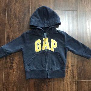 BabyGap 12-18 mos zip up hooded sweatshirt